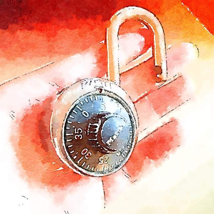Watercolor Master Lock