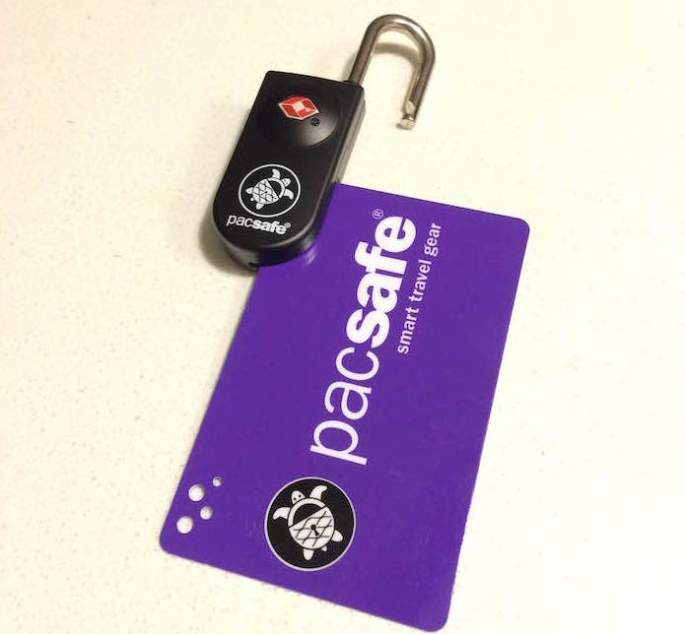 Pacsafe Prosafe 750 TSA Accepted Key-Card Lock - Open