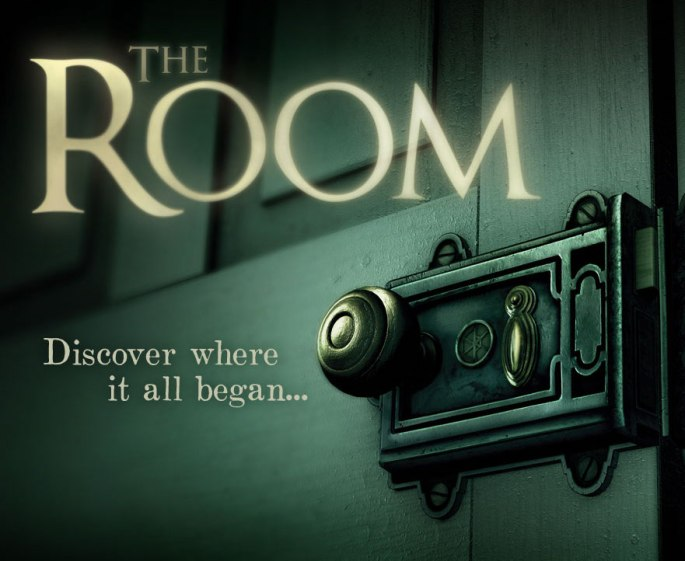 "The Room Logo depicts an elaborate and old lock on a door. Text states, ""Discover where it all began..."""