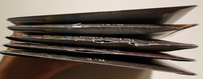 Mystery at Stargazer's Manor damaged envelopes