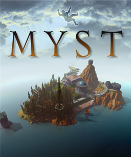 Myst box art featuring the island.