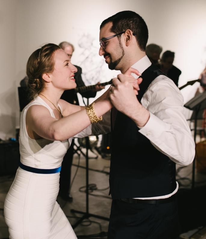 Lisa and David dancing rumba.