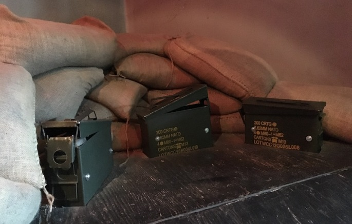 In game: a pile of sandbags
